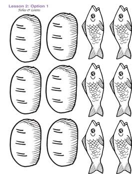 Google images free clipart loaves and fishes image freeuse stock color sheet of 2 fish and 5 l | Toddler Downloadable Resources / L2 ... image freeuse stock