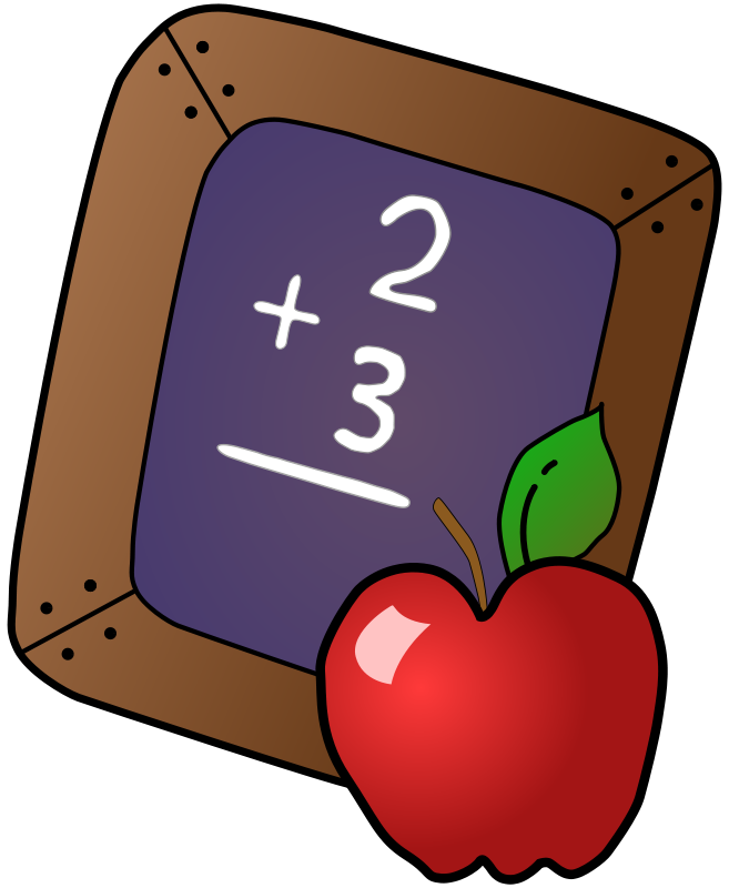 Free back to school. Cute math book clipart images