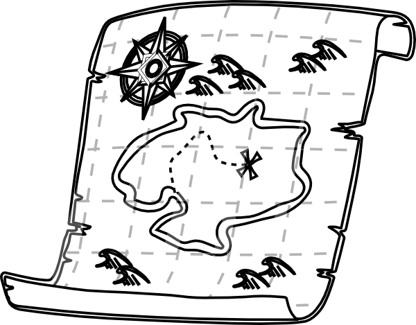 Google map images clipart graphic free download Treasure Map Outline | Free Download Clip Art | Free Clip Art | on ... graphic free download