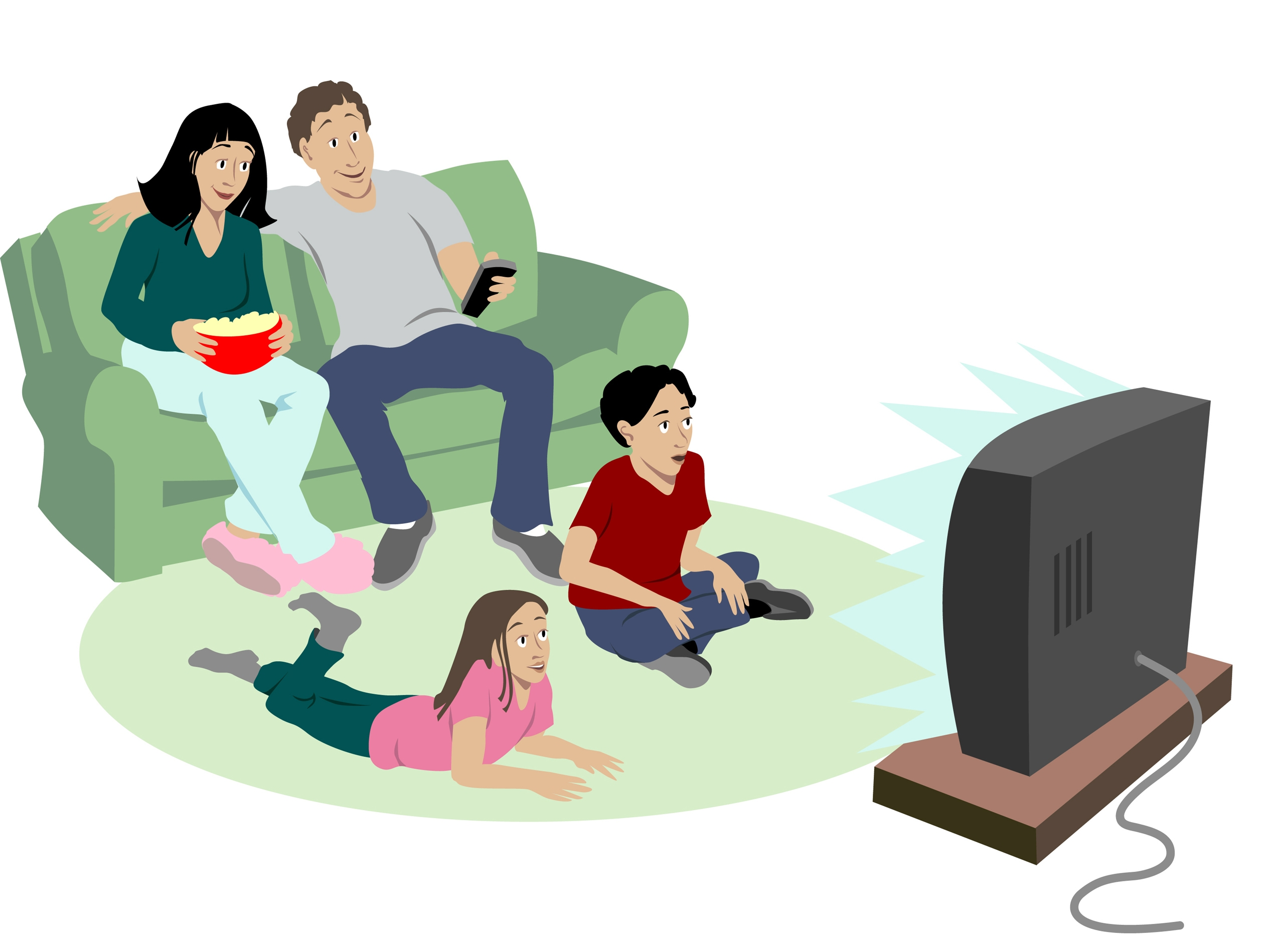 Watching Movie Clipart | Free download best Watching Movie Clipart ... jpg black and white