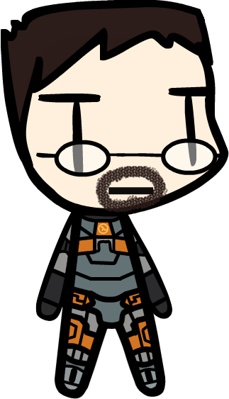 Gordon freeman clipart clipart transparent Walfas commission - Gordon Freeman (X2) by Rumiflan on DeviantArt clipart transparent
