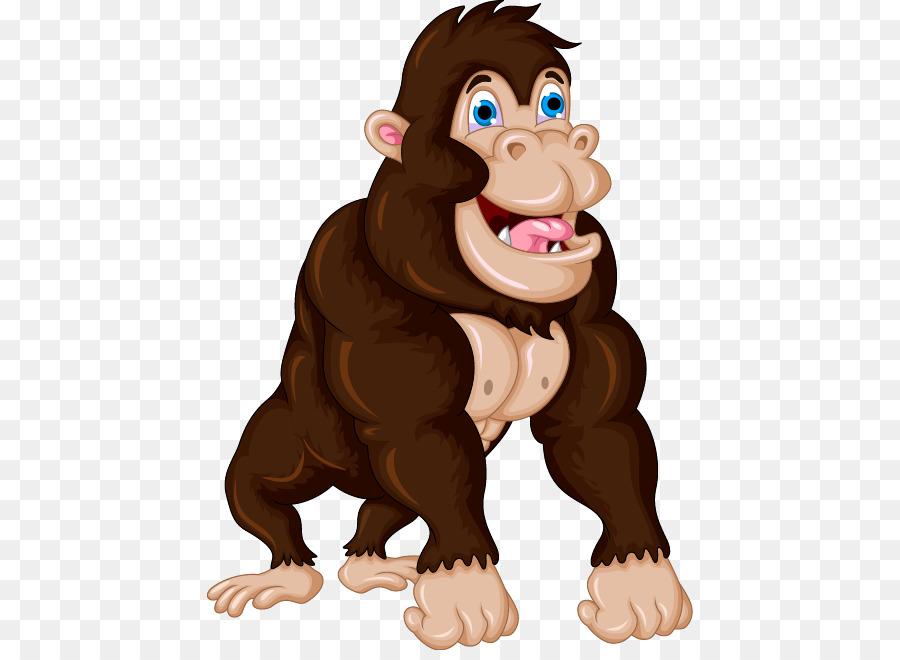Gorilla Cartoon png download - 486*650 - Free Transparent Gorilla ... vector royalty free stock