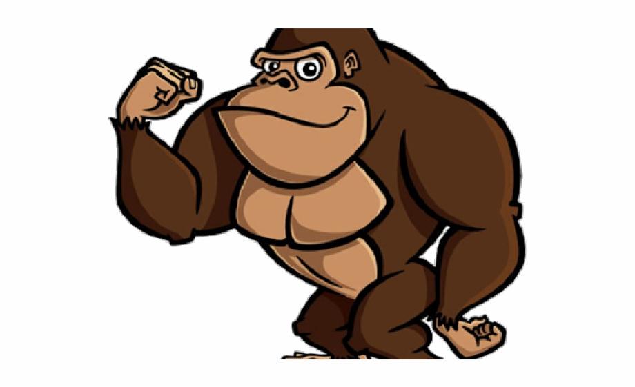 Gorilla Clipart Realistic Cartoon - Cartoon Gorilla Eating A Banana ... svg library library