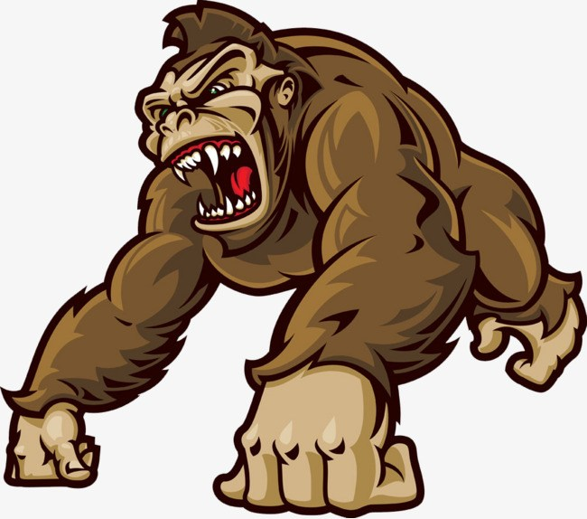 Gorilla clipart png 2 » Clipart Portal picture black and white stock