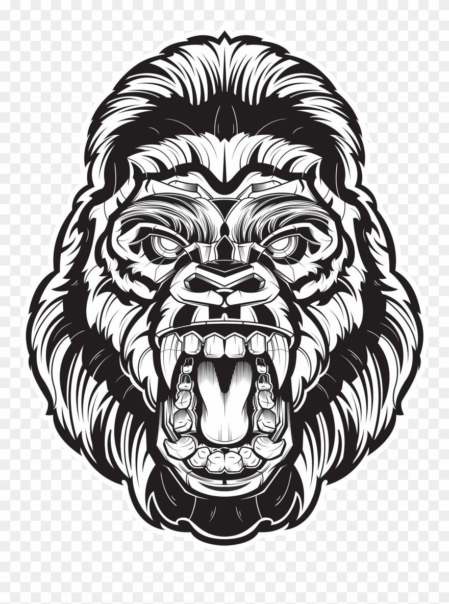 Gorilla face clipart graphic library download Angry Gorilla Face Png Clipart (#1831469) - PinClipart graphic library download