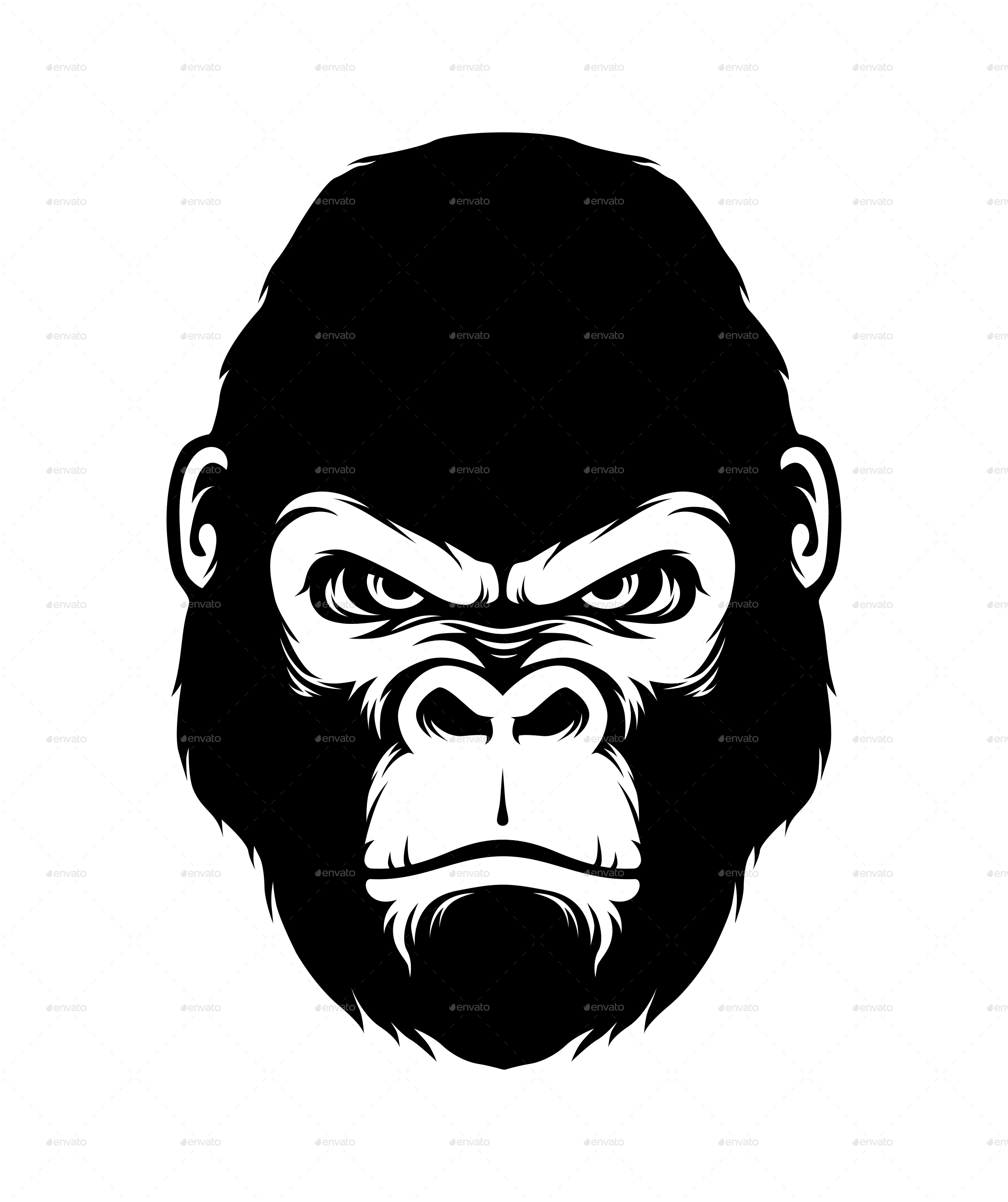 Gorilla face clipart svg download Gorilla head clipart images gallery for free download | MyReal clip ... svg download