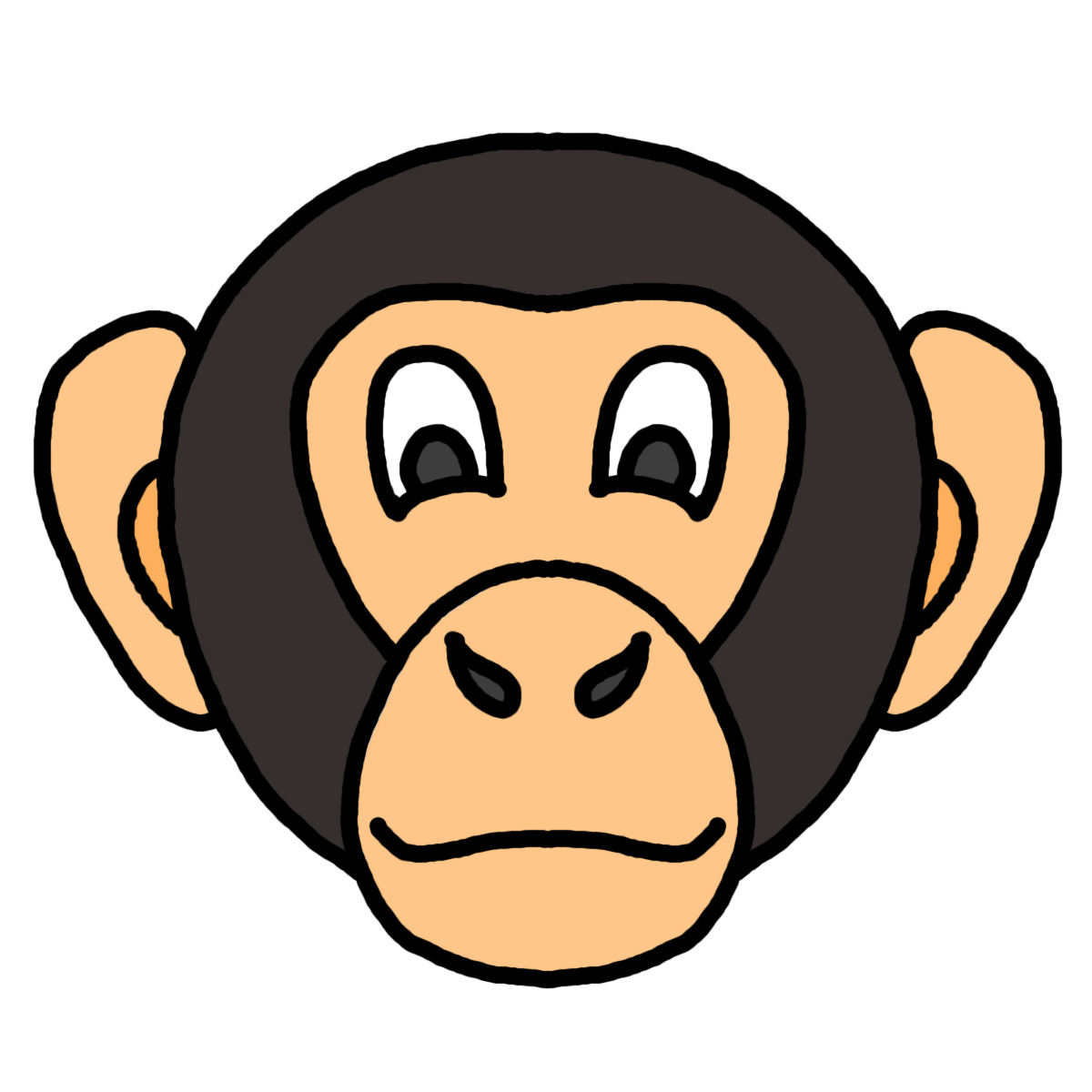 Gorilla face clipart svg library stock Free Cartoon Gorilla Face, Download Free Clip Art, Free Clip Art on ... svg library stock