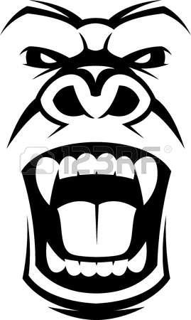 Gorilla face clipart freeuse library Gorilla Clipart Face & Free Clip Art Images #2434 - Clipartimage.com freeuse library