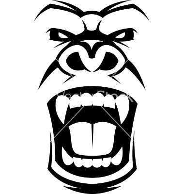 Gorilla face clipart vector download Gorilla face clipart 6 » Clipart Station vector download