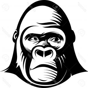 Gorilla face clipart banner library download Gorilla Face Drawing | Free download best Gorilla Face Drawing on ... banner library download