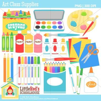 Got supplies for the art room clipart vector free download Art Supply Clipart | Art Room | Art room posters, Classroom themes ... vector free download