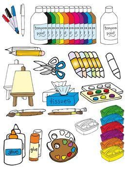 Got supplies for the art room clipart clip art freeuse library Art classroom clip art | art: room decor | Classroom clipart, Art ... clip art freeuse library