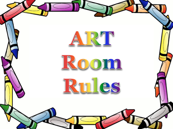Got supplies for the art room clipart image library stock The smARTteacher Resource: Art Room Rules PowerPoint image library stock