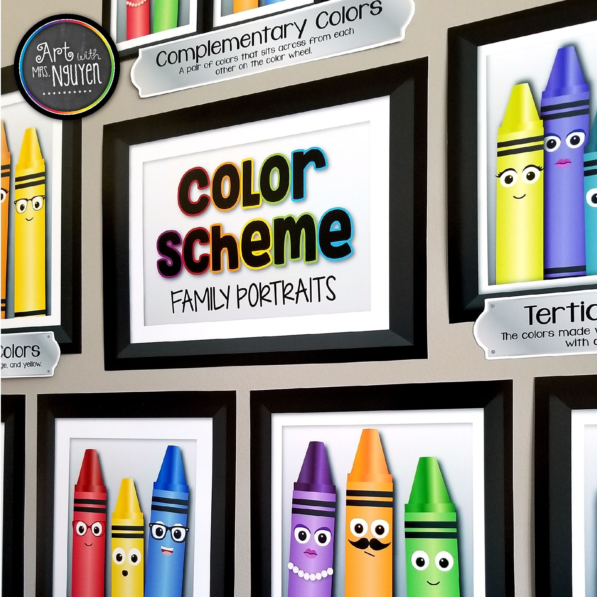 Got supplies for the art room clipart clip free Color Scheme Family Portrait Posters | ART EDUCATIONAL RESOURCES ... clip free
