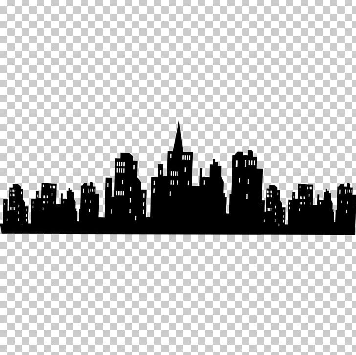 Gotham city clipart vector transparent Batman Gotham City Skyline Bat-Signal Wall Decal PNG, Clipart ... vector transparent
