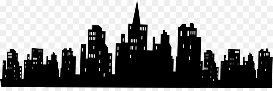 Gotham city clipart vector freeuse library City Skyline Silhouette png download - 2892*933 - Free Transparent ... vector freeuse library