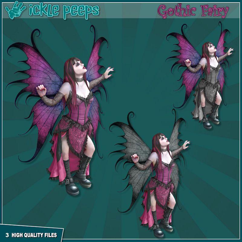Gothic Fairy Clipart Set | Fairies | Gothic fairy, Fairy clipart, Fairy clip art free library
