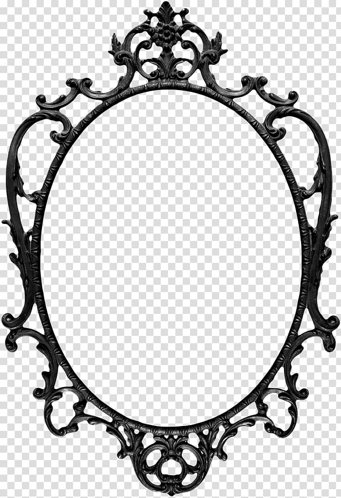 Gothic frames clipart png black and white download Silver-colored mirror frame, Frames Vintage clothing Mirror Drawing ... png black and white download