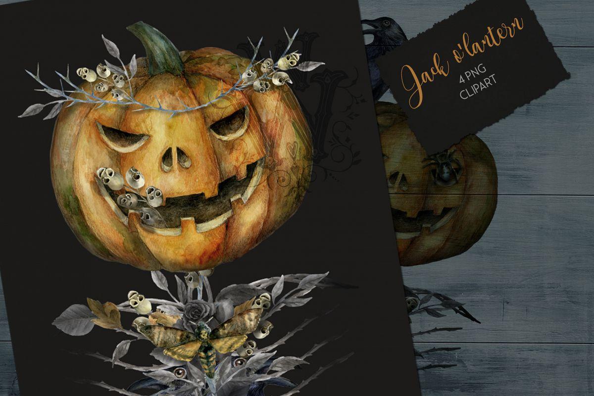 Gothic halloween clipart svg library download Jack o Lanter Halloween clipart, evil vintage gothic pumpkin svg library download