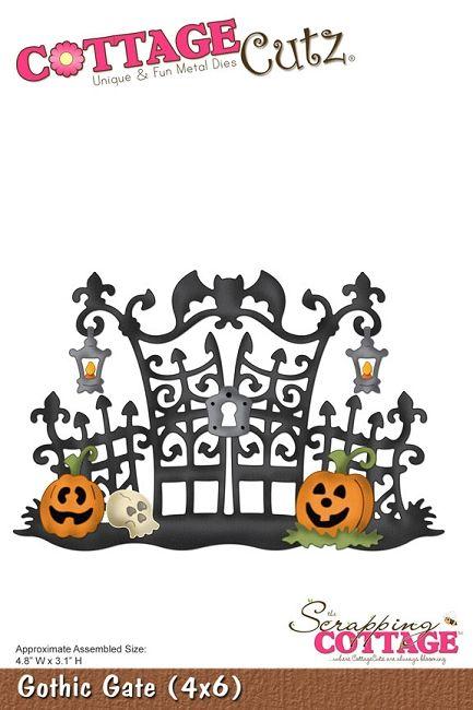Gothic halloween clipart jpg transparent download Cottage Cutz - Die - Gothic Gate   Cottage cuts dies etc   Halloween ... jpg transparent download