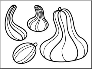 Gourd clipart black and white svg royalty free Clip Art: Gourds B&W I abcteach.com | abcteach svg royalty free