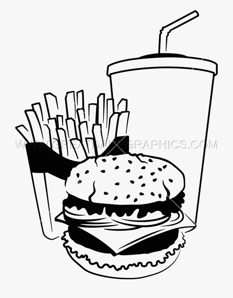 Gourmet burgers black and white high res clipart clipart freeuse Clip Art Royalty Free Fast Food Drawing At - Black And White Clipart ... clipart freeuse