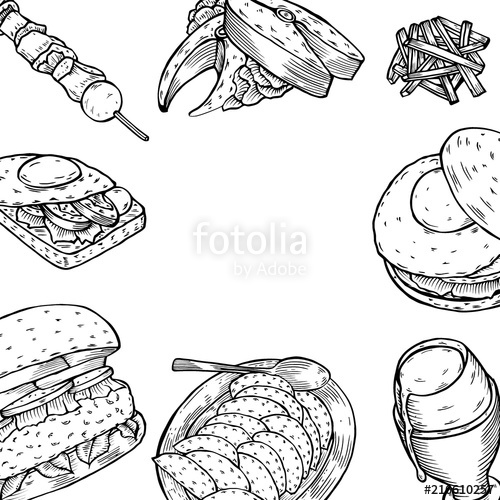 Gourmet burgers black and white high res clipart picture download Gourmet Burgers and ingredients for burgers\