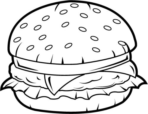 Simple burger and fries black and white clipart banner black and white download Images Of Burgers Clipart | Free download best Images Of Burgers ... banner black and white download