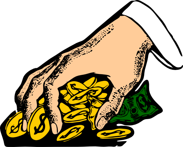 Grabbing clipart graphic black and white stock Hand Grabbing Gold Coins Clip Art at Clker.com - vector clip art ... graphic black and white stock