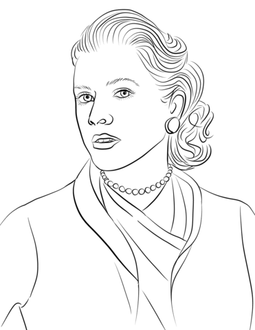 Grace kelly clipart image Grace Kelly coloring page | Free Printable Coloring Pages image