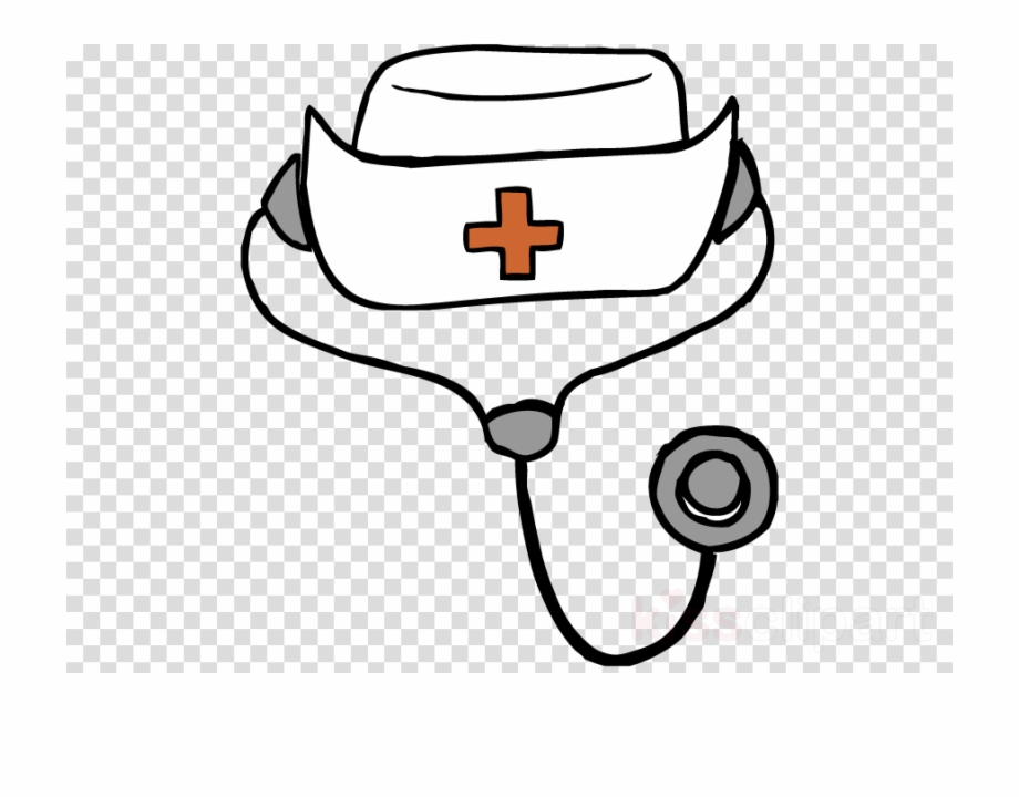 Gradation nursing cliparts black and whtie png freeuse download Download Drawing Of A Nurse Hat Clipart Nurse\'s Cap - Clip Art Nurse ... png freeuse download