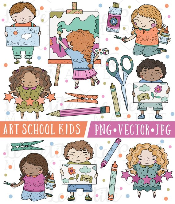 Grade school children clipart jpg transparent Art Class Clipart, Cute School Clipart, Kindergarten Clipart, First ... jpg transparent