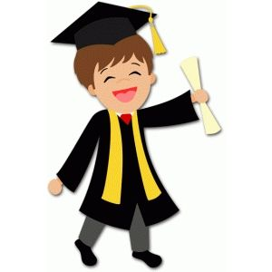 Graduate student clipart png royalty free Silhouette Design Store - View Design #59793: boy graduate | Pelo ... png royalty free