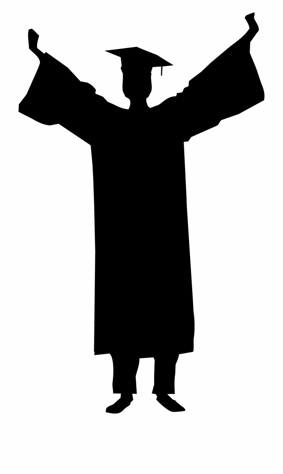 Graduate student clipart picture black and white download Graduation Ceremony Silhouette Student Clip Art - Silhouette ... picture black and white download