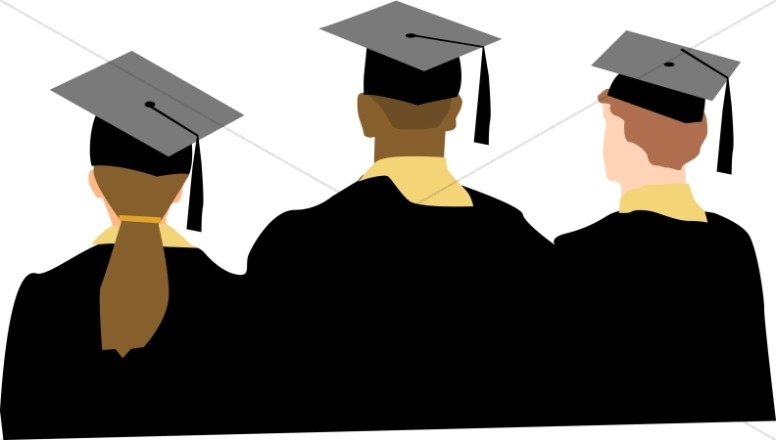 Graduates clipart image black and white Graduates   Christian Graduation Clipart and Images image black and white