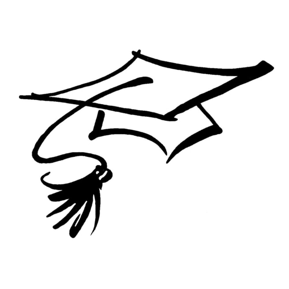 Graduating class of 2017 free clipart black background png black and white 1203 views | College Info | Graduation cap drawing, Graduation ... png black and white