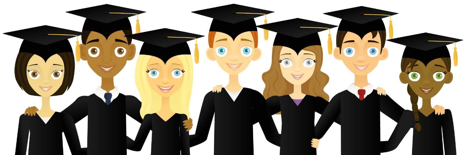 Free College Graduation Cliparts, Download Free Clip Art, Free Clip ... png black and white library