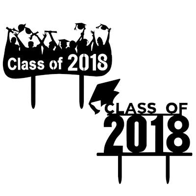Graduation 2018 party clipart clip transparent stock 2018 Graduation Party Cake Decoration With Acrylic Black Cake Topper clip transparent stock