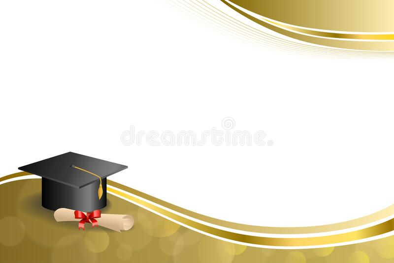 Graduation background clipart banner freeuse stock Photo about Background abstract beige education graduation cap ... banner freeuse stock