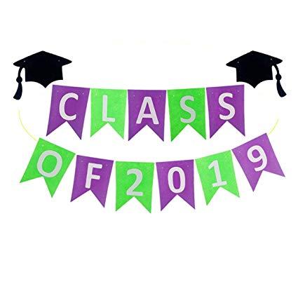 Amazon.com: CLASS of 2019 Banner Graduation Party Banner Bunting ... clip art transparent stock