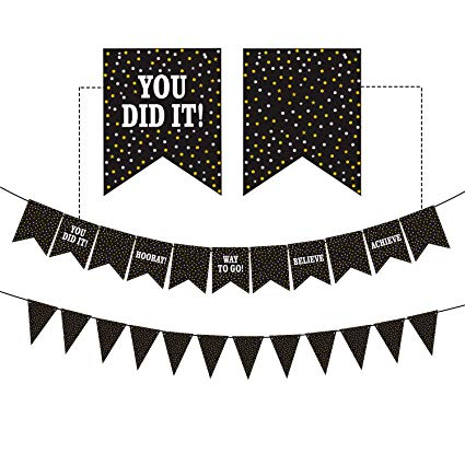 Dazonge Graduation Banner for Party Supplies 2019 - Graduation Decorations  - Perfect for High School, Senior, College Graduation Party Decorations clip art library stock