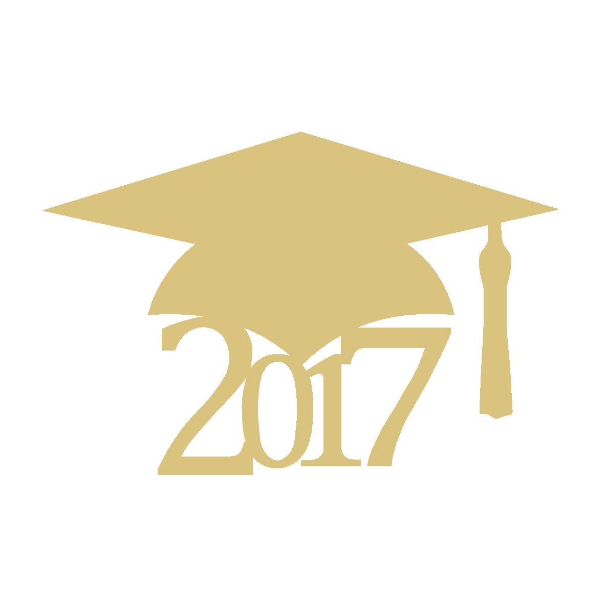 Graduation cap 2017 clipart svg freeuse download Graduation Cap 2017 Cutout Style 1 svg freeuse download