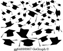 Graduation caps pictures clipart freeuse library Graduation Caps Clip Art - Royalty Free - GoGraph freeuse library