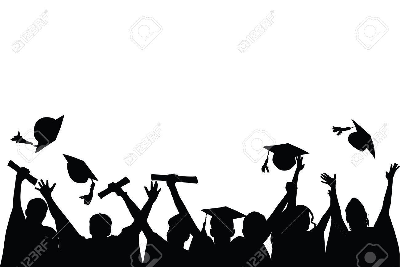 Graduation celebration clipart vector transparent stock Graduation celebration clipart black and white 5 » Clipart Portal vector transparent stock