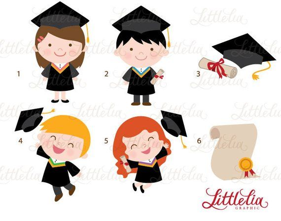 Graduation celebration clipart image stock Graduation celebration clipart - 14035 Instant download | Products ... image stock