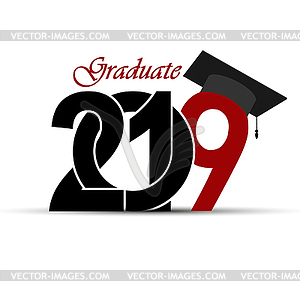 Congratulations on graduation in 2019 with - vector clipart clip art