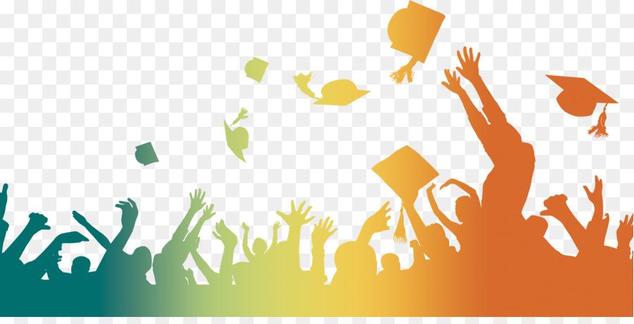 Graduation background clipart svg transparent library Graduation Cap png download - 3150*1576 - Free Transparent ... svg transparent library
