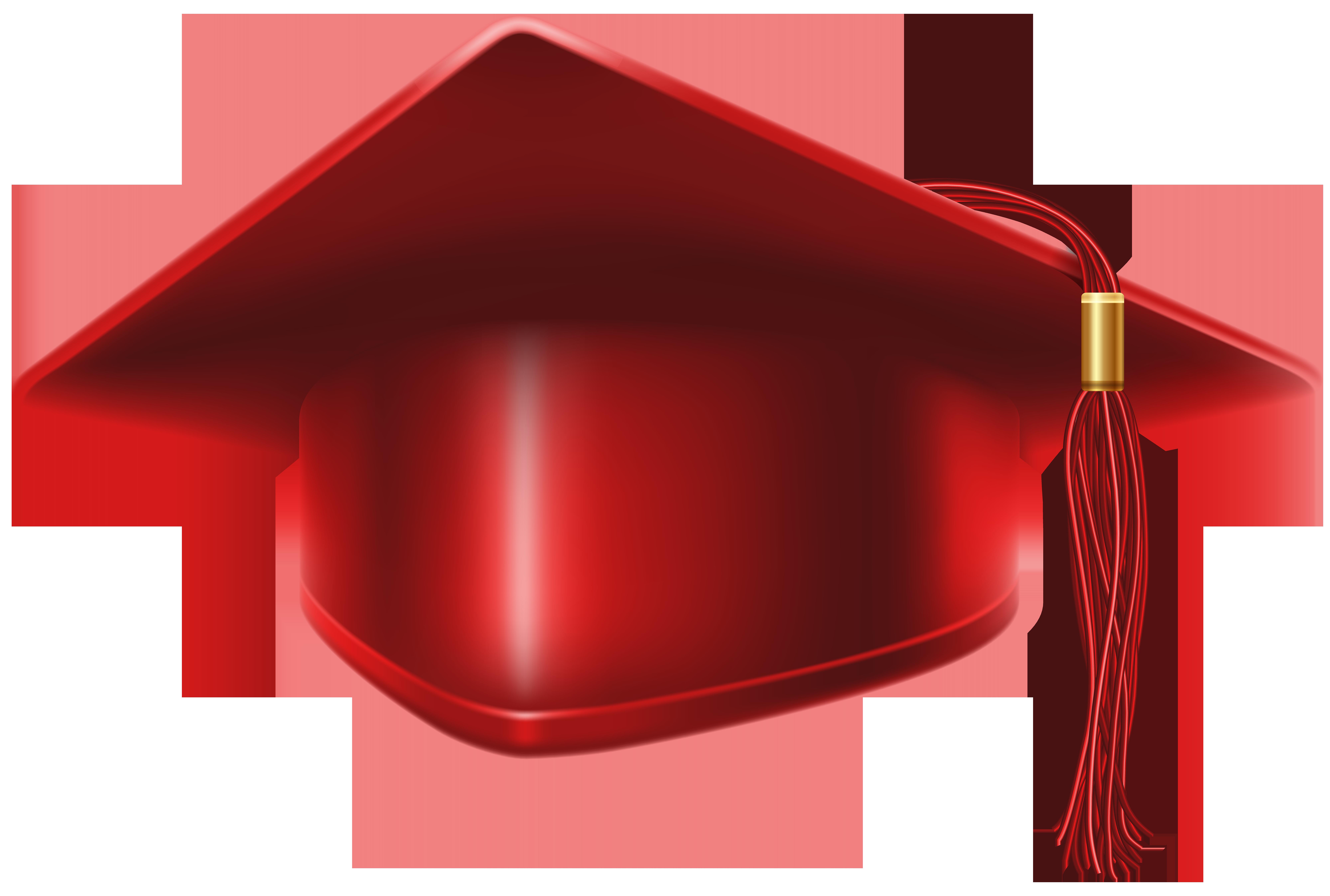 Graduation clipart red clipart transparent library Red Graduation Cap PNG Clip Art Image | Gallery Yopriceville - High ... clipart transparent library