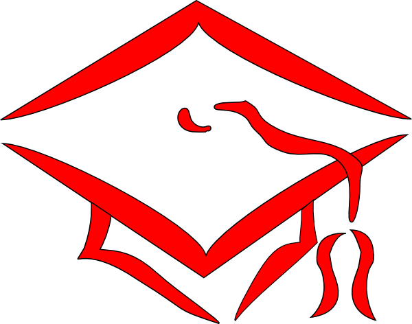 Graduation clipart red jpg royalty free library Red Graduation Cap Clip Art at Clker.com - vector clip art online ... jpg royalty free library