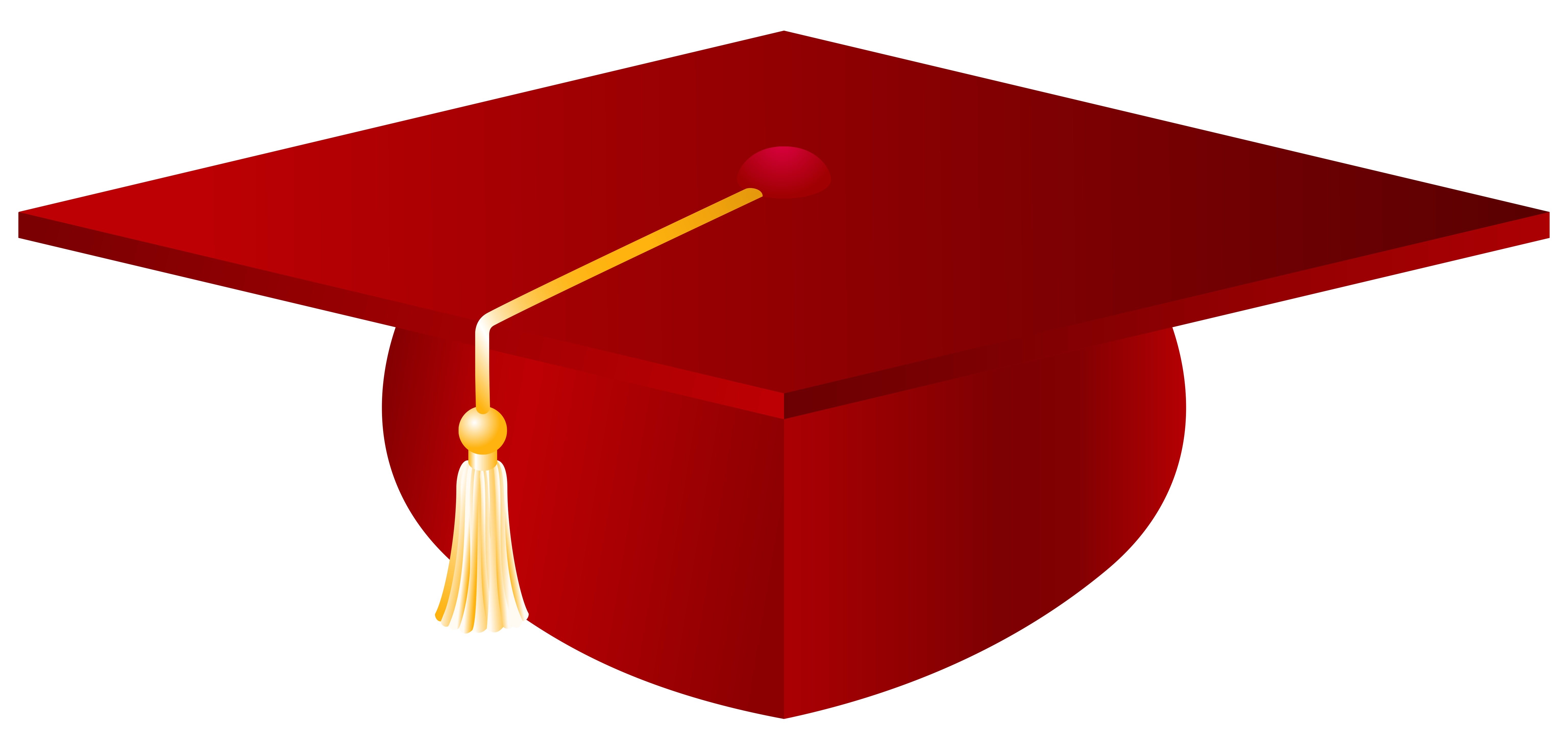 Graduation clipart red transparent library Red-Graduation-Cap-PNG-Vector-Clipart-Image | Gallery Yopriceville ... transparent library